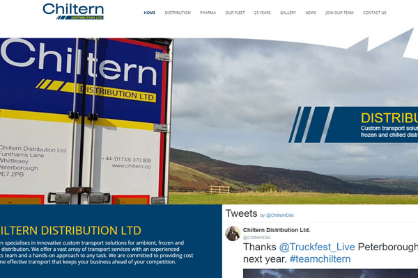 Chiltern Distribution Ltd. launches new website